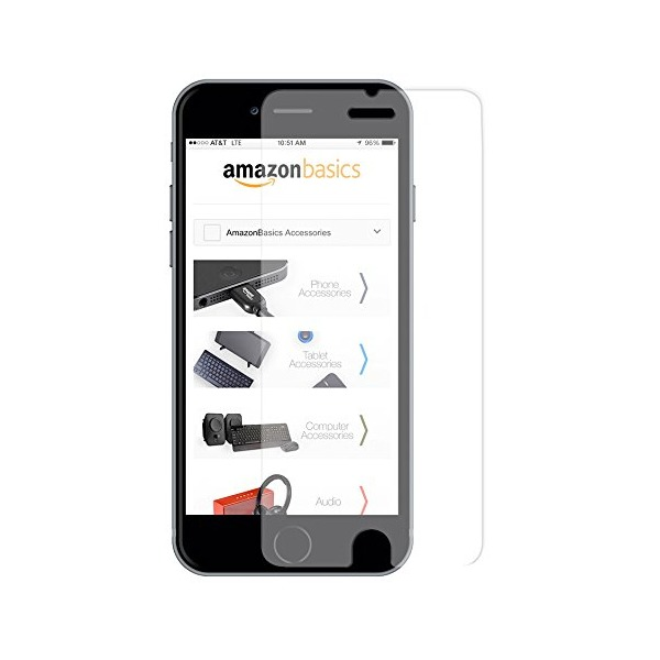 AmazonBasics Ultra-Clear High Definition (HD) Glass Screen Protector for iPhone 6