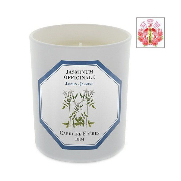 Jasmine - Jasminum Officinale Candle By Carriere Freres & Love Spell Card Gift Set