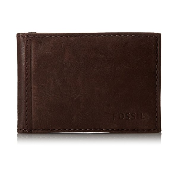 Fossil Men's Ingram Money Clip Bifold, Brown, One Size