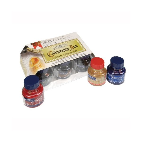 Winsor & Newton Calligraphy 6-Jar Ink Set, 30ml