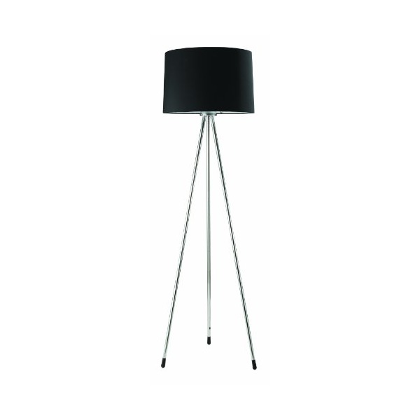 Ore International 31181BK Three Legged Floor Lamp, Black