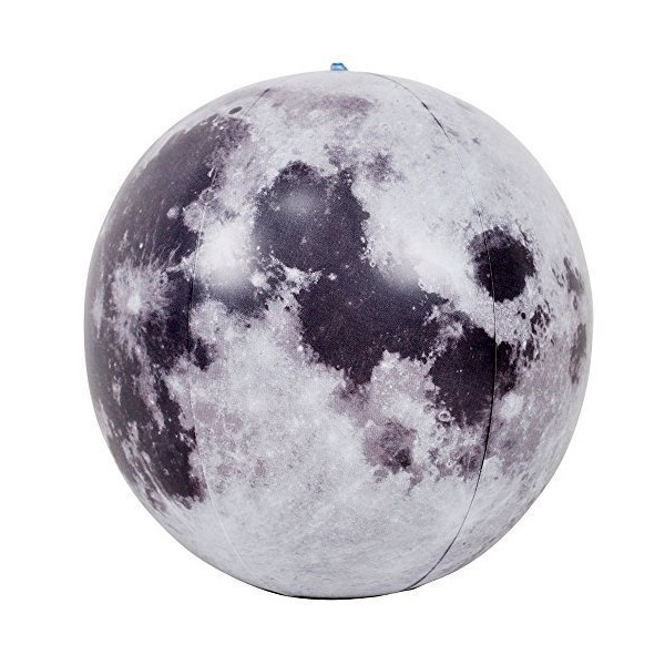 12 x 12 x 12 A New 3D Moon ball Inflates Balls Fun Summer Gift For Children or Adults Earth Natural Satellite Model Suitable for Science Teaching