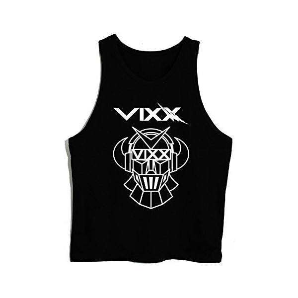 New T-shirt-00 Vixx Rovix Logo Kpop Unisex Tank Top Vest Sleeveless Tee (BLACK)