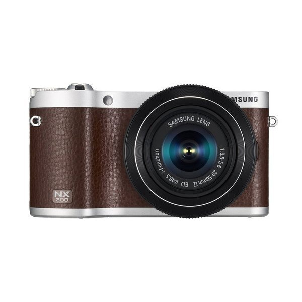 "Samsung NX300 20.3MP CMOS Smart WiFi Compact Interchangeable Lens Digital Camera with 20-50mm Lens and 3.3"" AMOLED Touch Screen (Brown)"