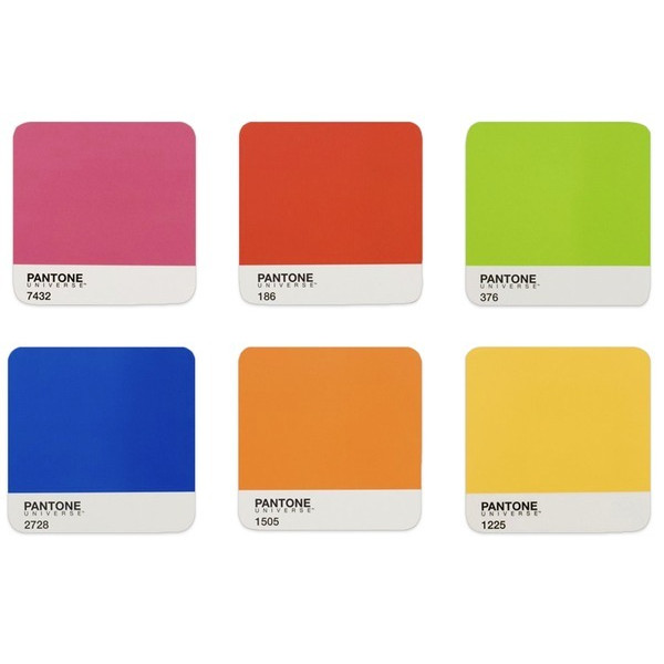 Pantone Universe Coasters, Original Tones, Set of 6