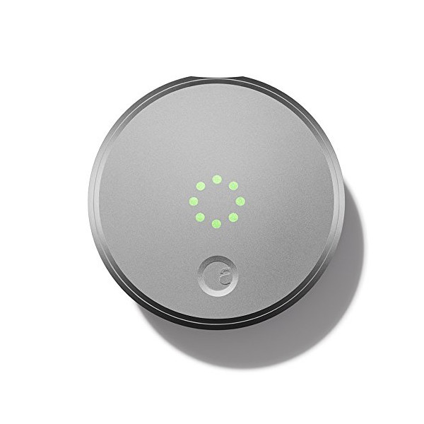 August Smart Lock, Bluetooth Enabled, Silver