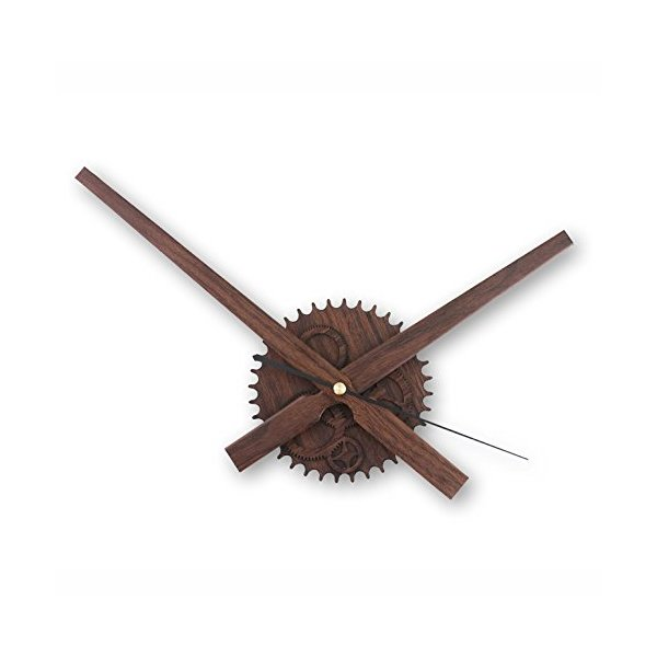 [New Version] Zhpuat Elegant and Graceful Simple DIY Large Pointer 17.7 Inch Wall Clock Color Wood