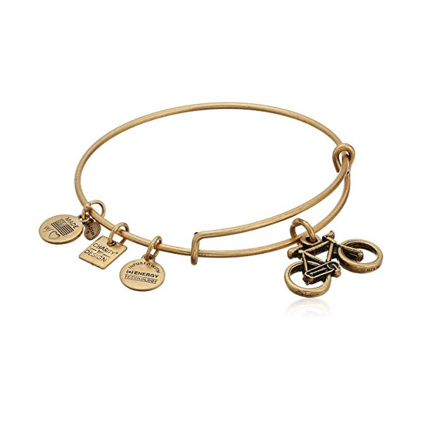 Alex and Ani Charity By Design Bike Rafaelian Gold Bangle Bracelet