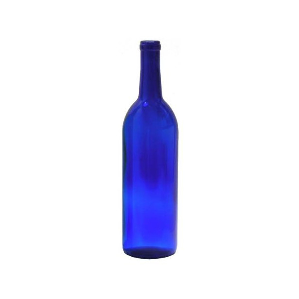 750 ml Cobalt Blue Glass Claret/Bordeaux Bottles, 12 per case