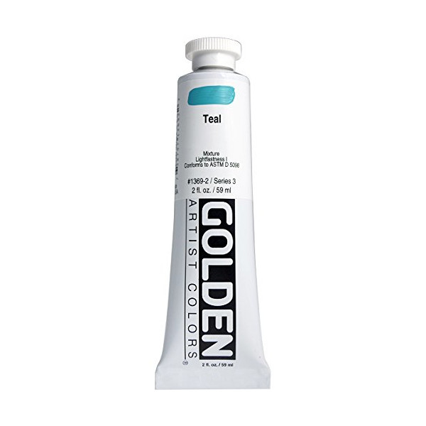 Golden Heavy Body Acrylic Paint 2oz-Teal