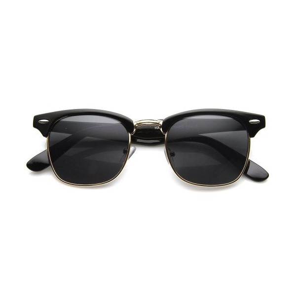 Hollywood Half Frame Classic Wayfarer Style Sunglasses
