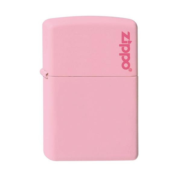 Zippo Pink Matte Lighter with Zippo Logo