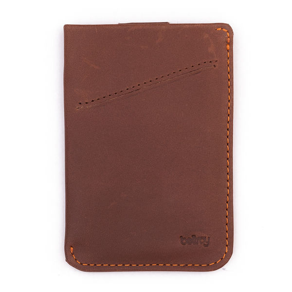 Bellroy Men's Leather Card Sleeve Wallet Cocoa