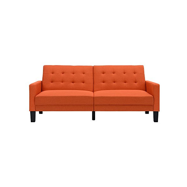 DHP Paris Futon with Independently Encased Coils, Orange