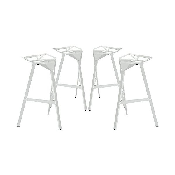 Konstantin Grcic White Bar Stool One Set of Four FMP251208
