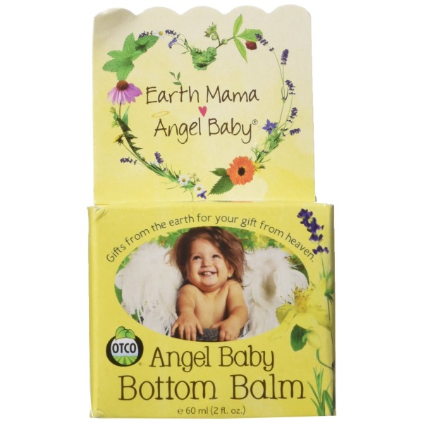 Earth Mama Angel Baby Bottom Balm, Natural Diaper Cream, Made with Organic Calendula to Soothe and Moisturize Sensitive Skin, Vegan and Safe for Cloth Diapers 2 fl. oz.