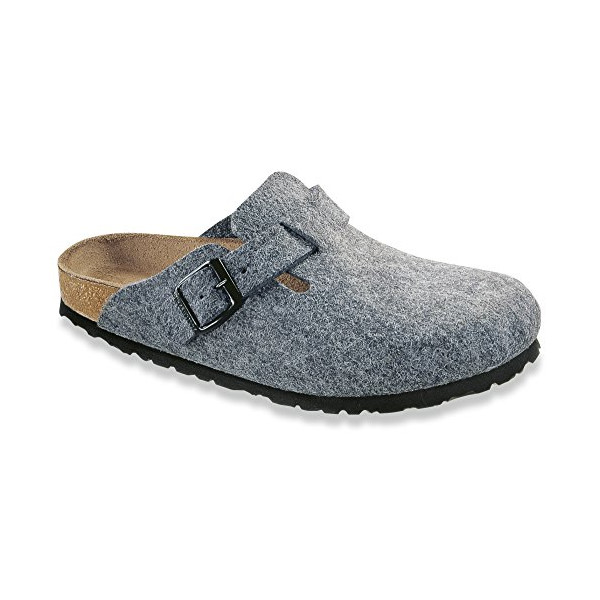 BIRKENSTOCK Boston Womens Light Gray Felt Clogs 40 EU (7-7.5 R US Men/9-9.5 R US Women)