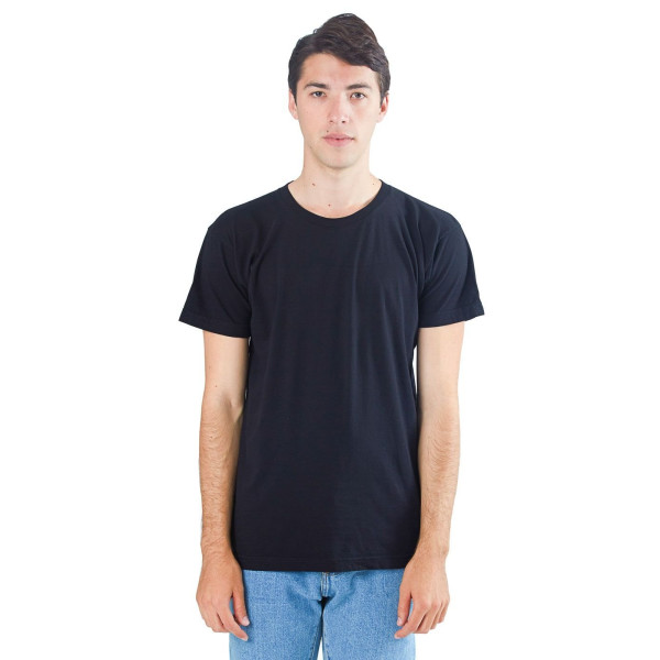American Apparel Power Washed Tee, Black