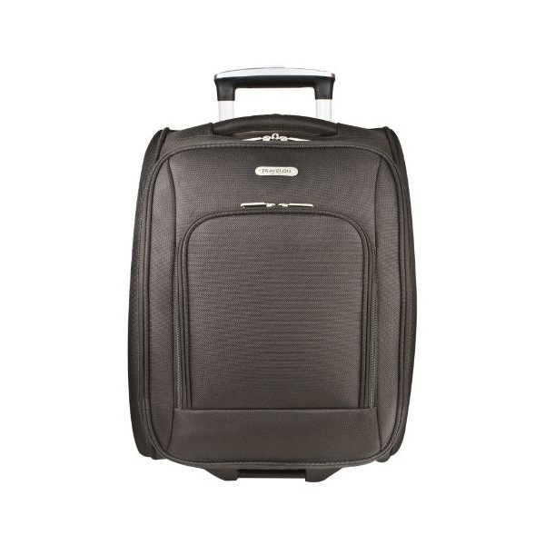 Travelon Luggage Wheeled Underseat 18 Inch Carry On Bag, Black, One Size