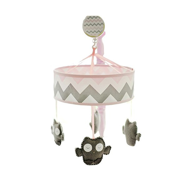 My Baby Sam Chevron Mobile, Pink/Gray