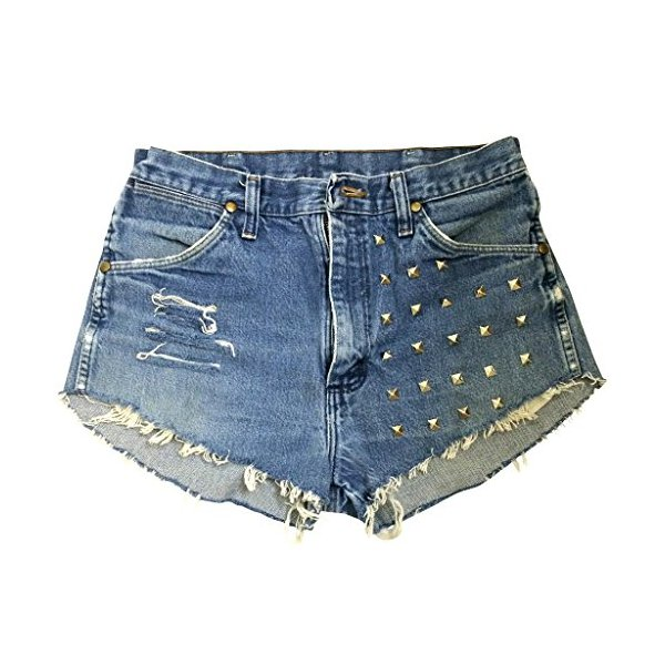 Women's Vintage Levi's High Waisted 902 Stone Studded Dreamer Denim Shorts-L