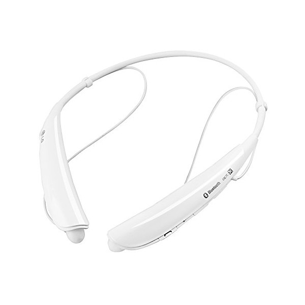 LG Tone Pro HBS-750 Bluetooth Stereo Headphones with Microphone - White (Certified Refurbished)