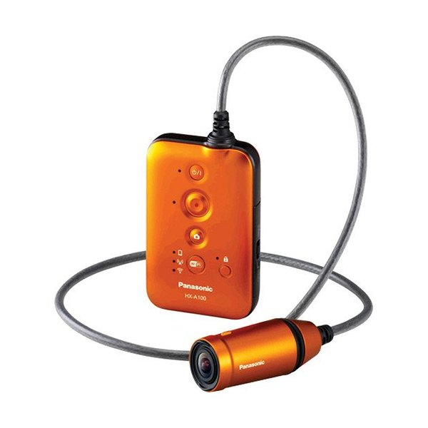 Panasonic HX-A100 Wearable HD Digital Camcorder (orange)