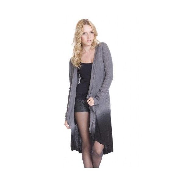 Ombre Dip Dye Long Open Conrad Cardigan Sweater by One Grey Day-Grey-L