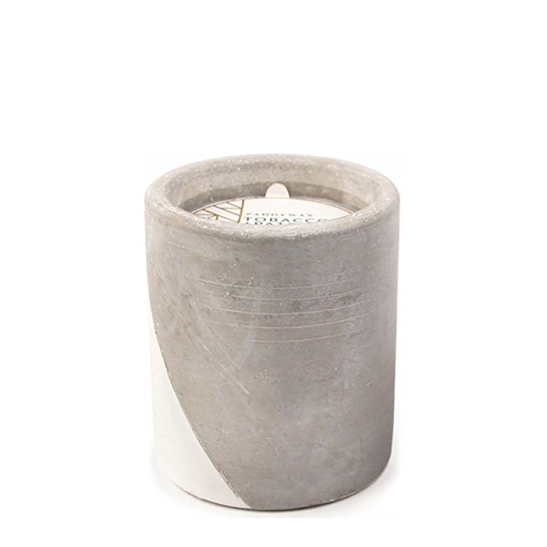 Paddywax Soy Wax Candle In Concrete Pot, Tobacco & Patchouli