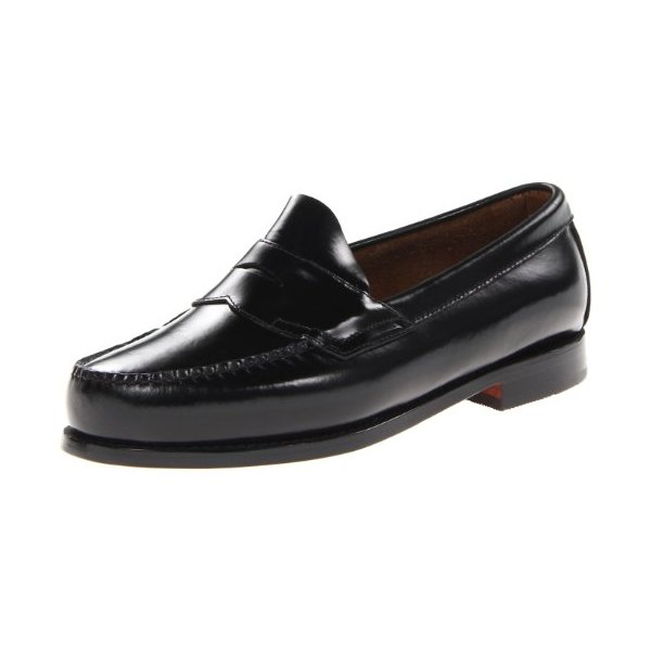 Bass Men's Logan Flat Panel Loafer,Black,9.5 3E