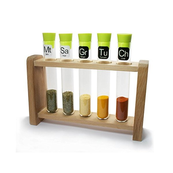 Test Tube Science Chemistry Spice Rack Lime and Natural