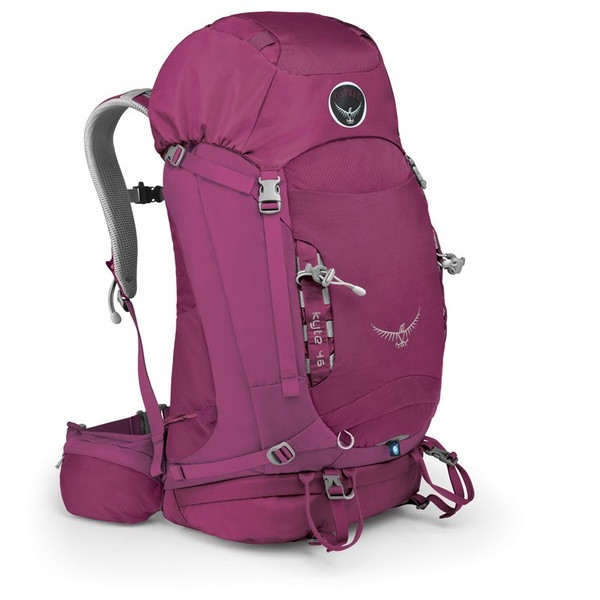 Osprey Women's Kyte 46 Backpack, Rose Red, Small/Medium