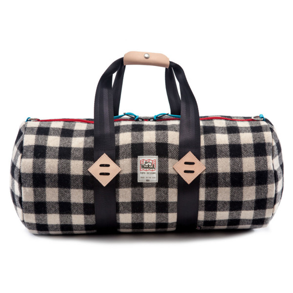 Woolrich TOPO Designs Duffle, White/Black