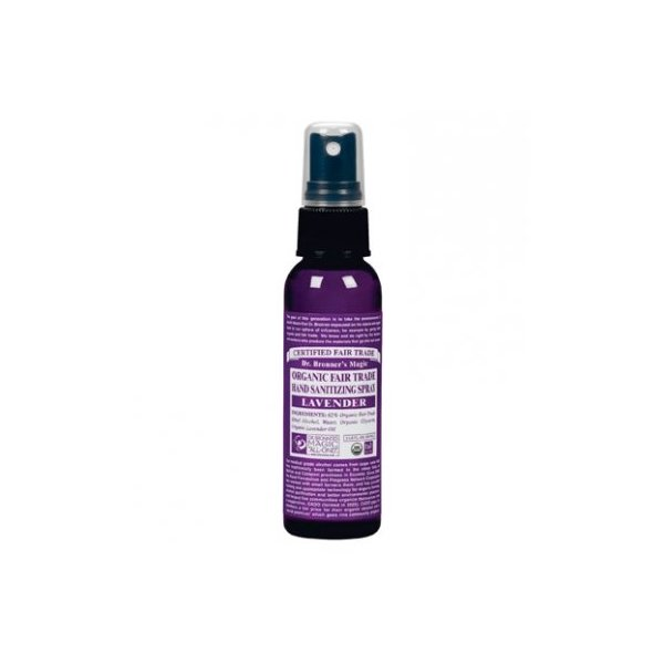 Dr. Bronner's Organic Lavender Hand Sanitizing Spray - 2 oz. - 2 Pack