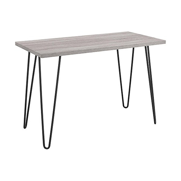 Ameriwood Industries Altra Owen Retro Desk, Metal Legs, Sonoma Oak and Gunmetal Gray