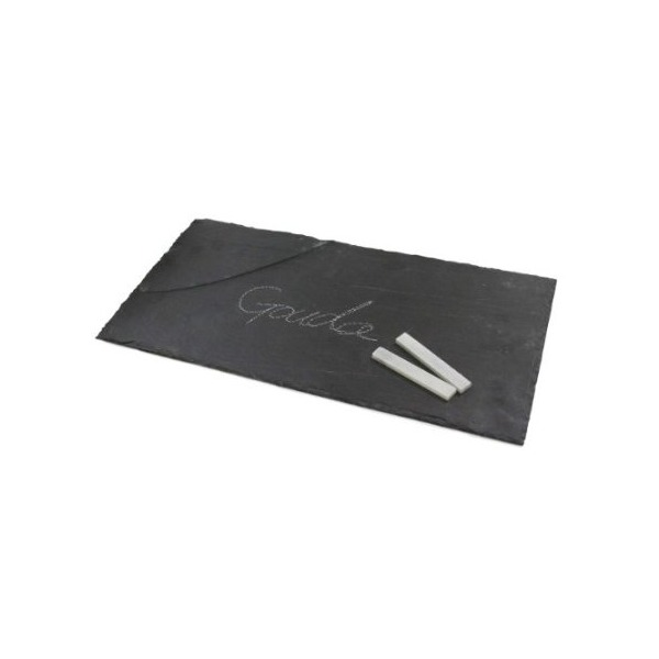 True Fabrications Slate Cheese Board and Chalk Set