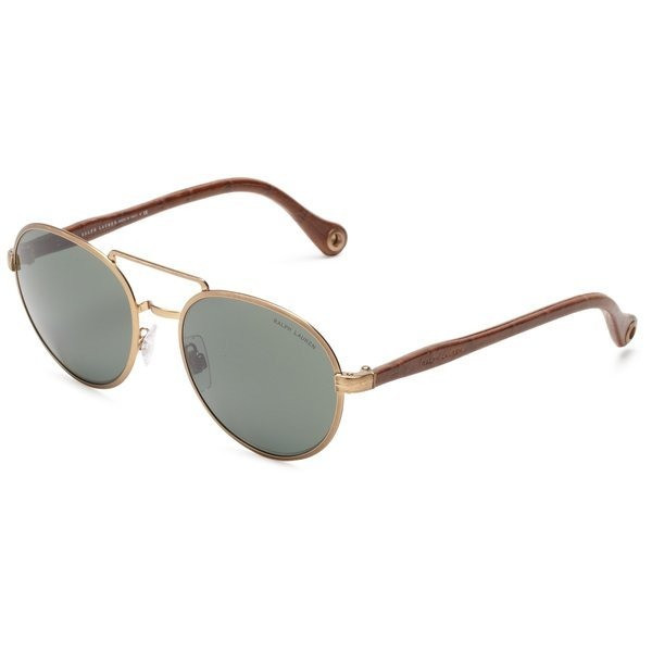 Polo Ralph Lauren Round Sunglasses, Bronze & Gold