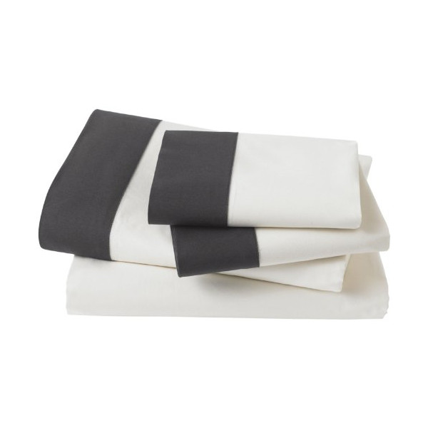Dwellstudio Modern Border Ink Sheet Set, King
