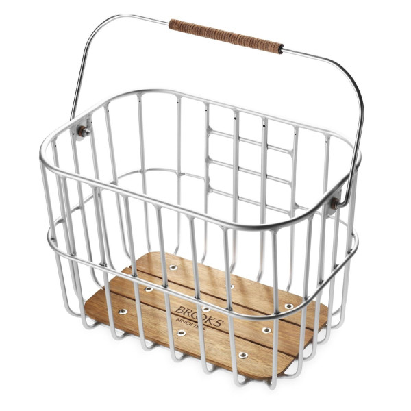 Hoxton Wire Bicycle Basket with Wooden Base