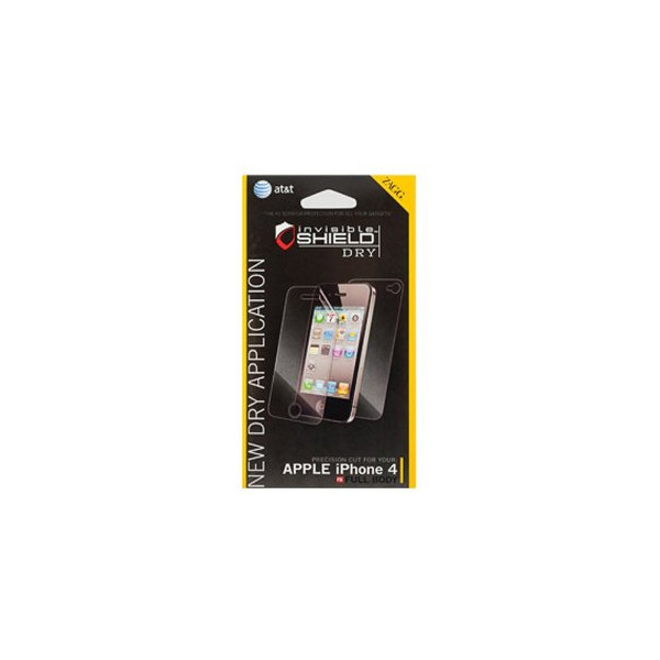 ZAGG invisible Shield Dry Easy Installation Version for Verizon/AT&T Apple iPhone 4/4SD Full Body, Earphone Winder