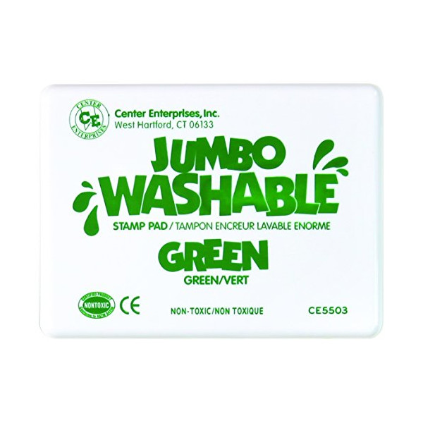 Center Enterprise CE5503 Jumbo Washable Stamp Pad, Green