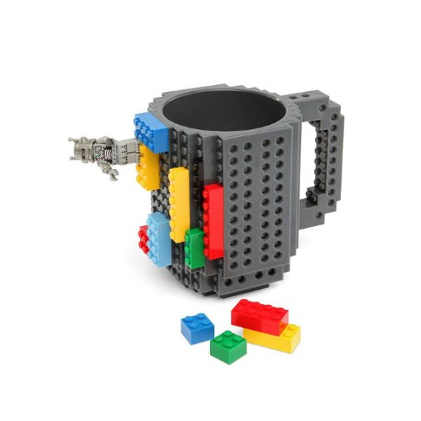 Build-On Brick Mug, BPA-free 12oz Coffee Mug