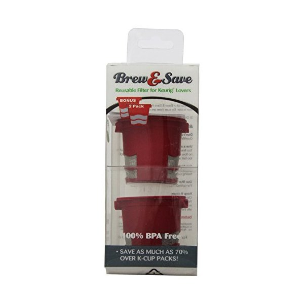 Brew and Save Refillable Single-cup (coffee or tea or cider) for Keurig K-Cup Brewers, 2 Count