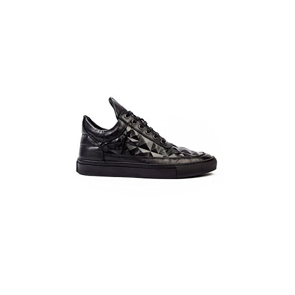 FILLING PIECES LOW TOP LINGOTTO BLACK LEATHER SNEAKER (11.0)