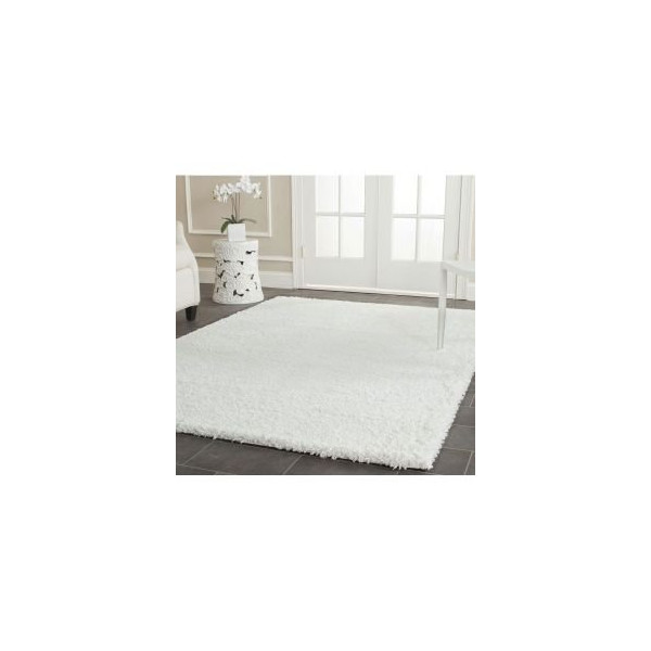 Safavieh SG151-1010 Shag Collection Square Area Rug, 8-Feet 6-Inch, White