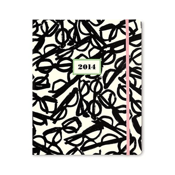 2014 kate spade new york 17-month agenda - Literary Glasses Pattern