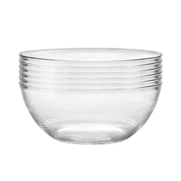 Duralex Lys 10-1/4-Inch Clear Bowl, Set of 6
