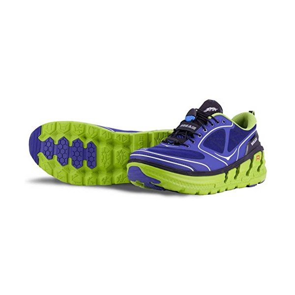 HOKA Conquest Men's Running Shoes, Navy/Lime, US9.5
