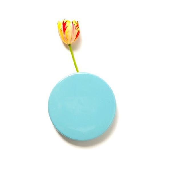 Chive Wall Dot Ceramic Vase, Blue