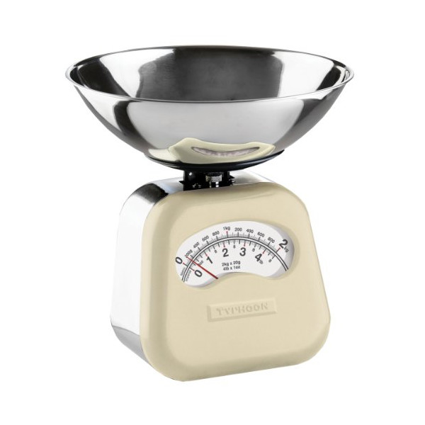 Typhoon Stainless Steel Novo Mechanical Kitchen Scale, Cream